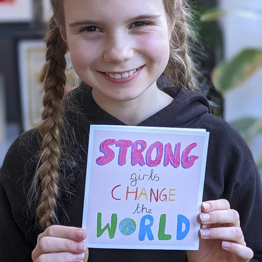 Strong Girls Card 2 Eco Friendly Products