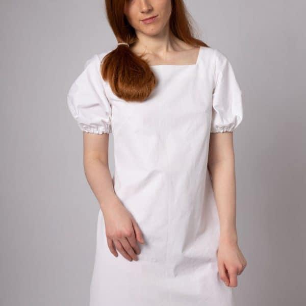 puff sleeve organic cotton dress