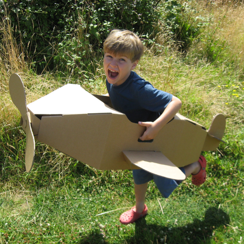 Brown Toy Aeroplane Eco Friendly Products