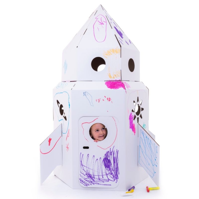 Cardboard Rocket Playhouse Eco Friendly Products