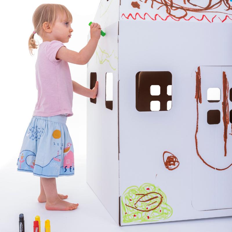 Diy Cardboard Playhouse Eco Friendly Products