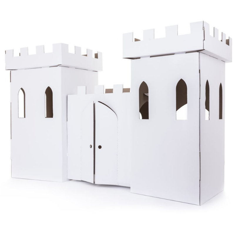 White Cardboard Castle Eco Friendly Products