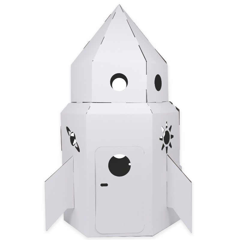 White Cardboard Rocket Eco Friendly Products