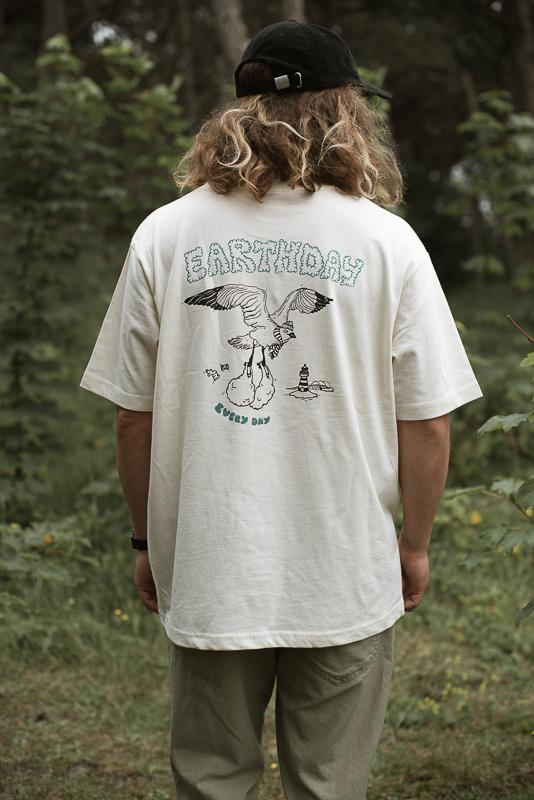 Earthday T-Shirt In Natural Raw By Inmind Clothing From Olas Palmas Collection