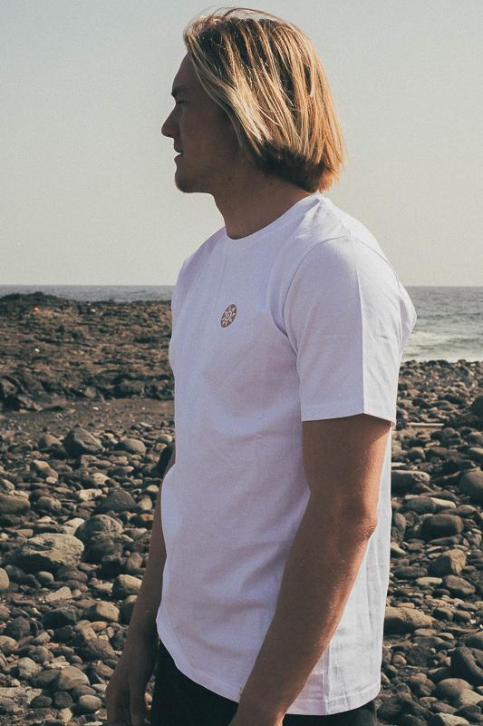 White Pintadera T-Shirt From Inmind Clothing I Gran Canaria Collection