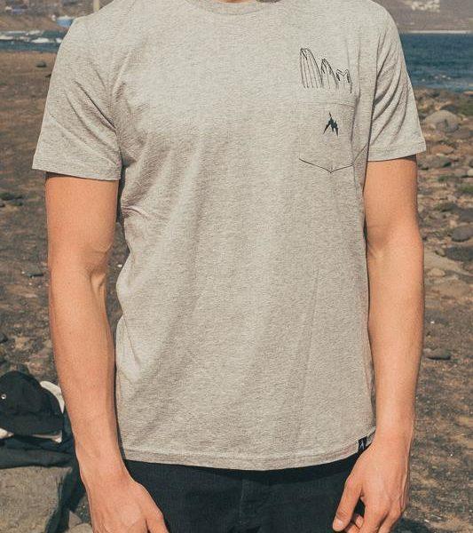 Heather Grey Quiver I INMIND Clothing I Men Pocket T-shirt