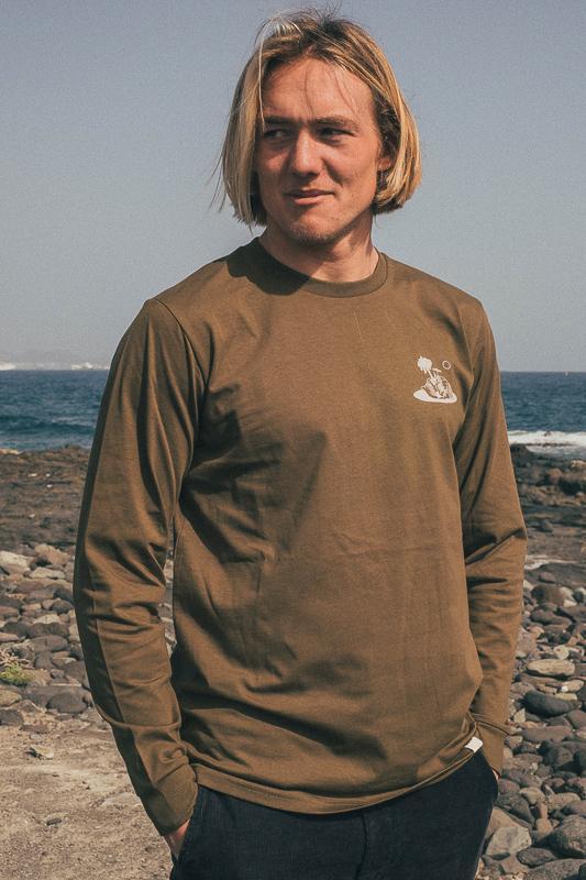 Skull Island Longsleeve British Khaki 3 Eco Friendly Products