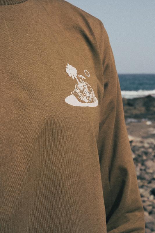Skull Island Longsleeve British Khaki 4 Eco Friendly Products