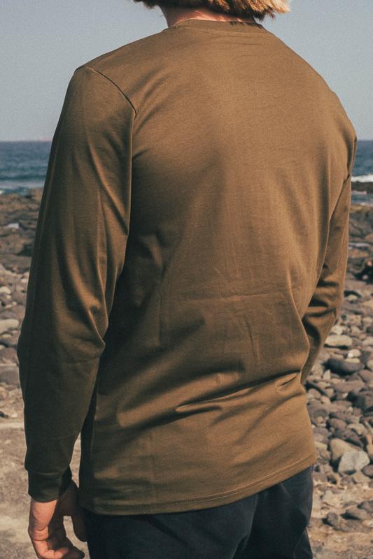 Skull Island Longsleeve British Khaki 7 Eco Friendly Products